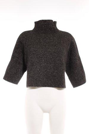 Zara Knit Strickpullover schwarz-weiß meliert Casual-Look