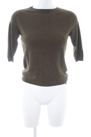 Zara Knit Strickpullover waldgrün Casual-Look