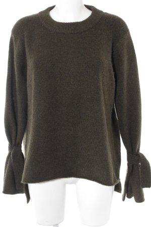 Zara Knit Strickpullover waldgrün klassischer Stil
