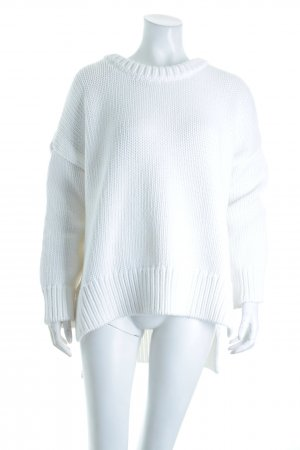 Zara Knit Strickpullover weiß Casual-Look
