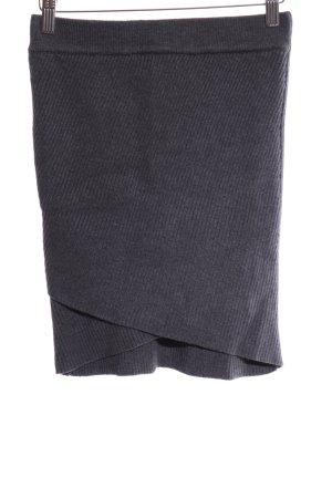 Zara Knit Falda de punto gris claro estilo «business»