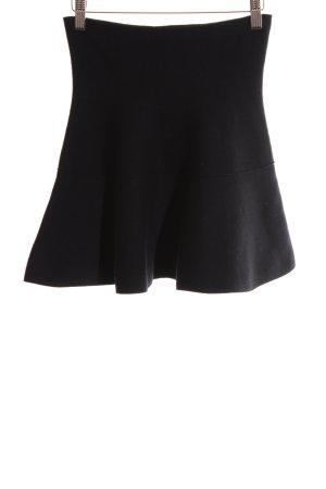 8a44beb9 Zara Knit Falda de punto negro look casual