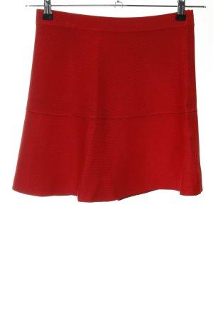 Zara Knit Falda de punto rojo look casual