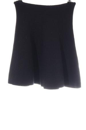 Zara Knit Gonna lavorata a maglia nero stile professionale