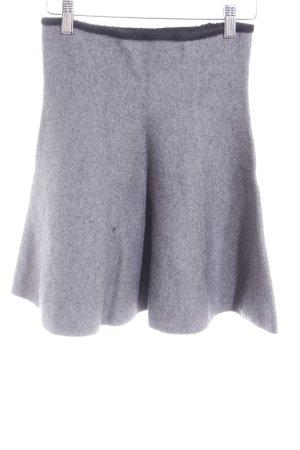 Zara Knit Strickrock graublau-schwarz Kuschel-Optik