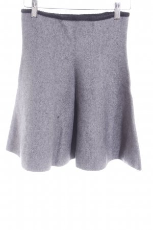 Zara Knit Jupe tricotée gris ardoise-noir molletonné
