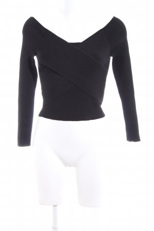 Zara Knit Knitted Jumper black casual look
