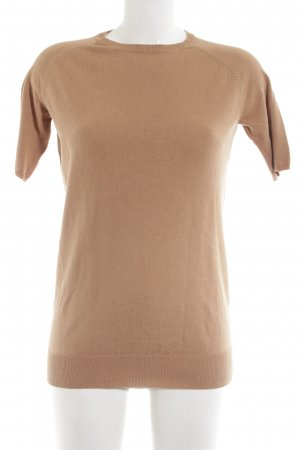 Zara Knit Strickshirt nude Casual-Look