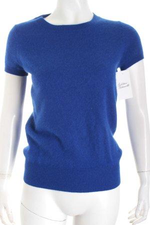 Zara Knit Strickshirt blau minimalistischer Stil
