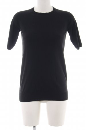 Zara Knit Strickshirt schwarz Casual-Look