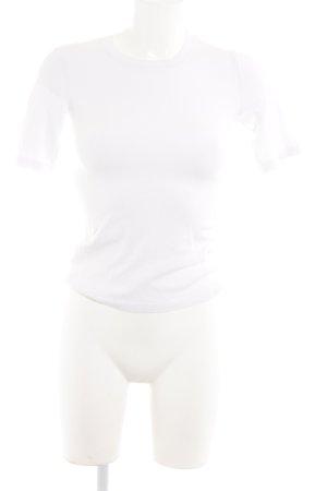 Zara Knit T-shirts en mailles tricotées blanc style décontracté