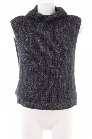 Zara Knit Knitted Top black-white flecked casual look