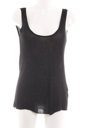 Zara Knit Top lavorato a maglia nero stile casual
