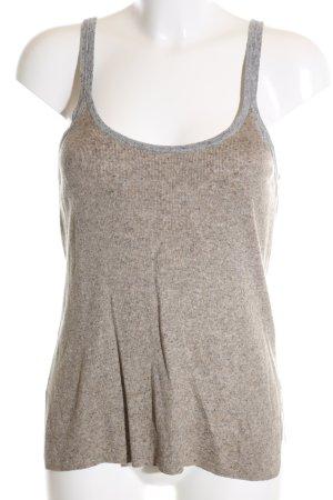 Zara Knit Haut tricotés brun-gris clair moucheté style décontracté