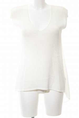 Zara Knit Knitted Top white casual look