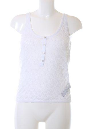 Zara Knit Top lavorato a maglia bianco stile casual