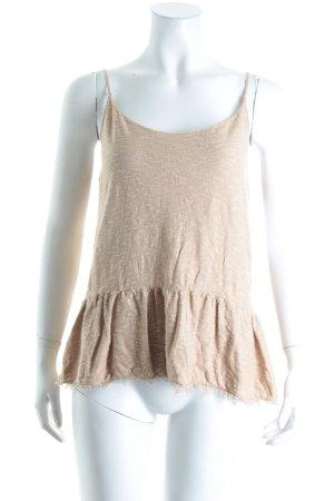Zara Knit Stricktop beige Street-Fashion-Look