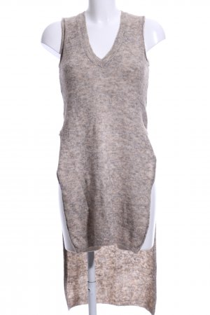 Zara Knit Knitted Top cream-light grey flecked casual look