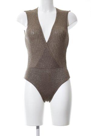 Zara Knit Gebreide top bruin casual uitstraling