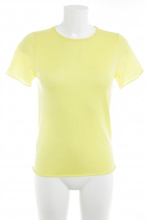 Zara Knit Knitted Top yellow business style