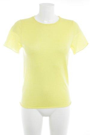 Zara Knit Stricktop gelb Business-Look
