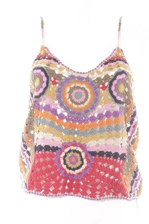 Zara Knit Stricktop mehrfarbig extravaganter Stil