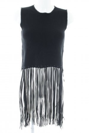 Zara Knit Knitted Top black street-fashion look