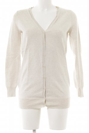 Zara Knit Strickweste creme Casual-Look