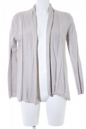 Zara Knit Gebreid vest licht beige Webpatroon casual uitstraling