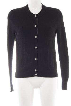 Zara Knit Strickweste schwarz schlichter Stil