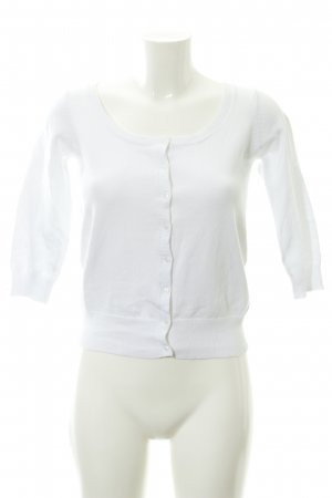 Zara Knit Gebreid vest wit casual uitstraling