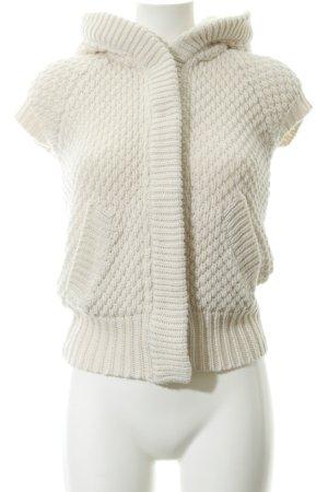 Zara Knit Strickweste wollweiß Casual-Look