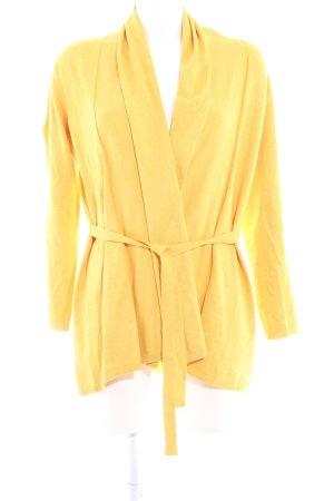 Zara Knit Gebreide wikkeljas geel casual uitstraling
