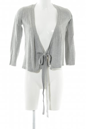 Zara Knit Knitted Wrap Cardigan light grey simple style