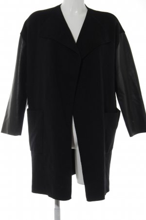 Zara Knit Knitted Wrap Cardigan black casual look
