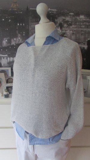 Zara Knit * Süßer Bändchengarn Pullover * offwhite * S=36/38