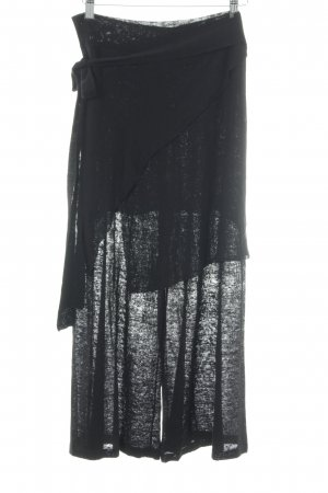 Zara Knit Sweat Pants black casual look