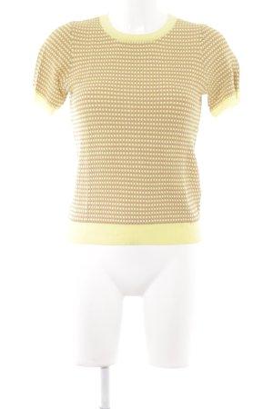 Zara Knit T-Shirt hellgelb-gelb Punktemuster 60ies-Stil