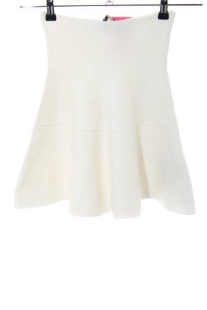 Zara Knit Jupe corolle blanc cassé style décontracté