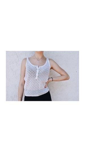 Zara Camisa tejida blanco