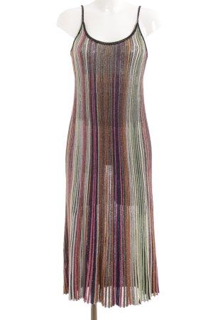 Zara Knit Trägerkleid Streifenmuster Glitzer-Optik