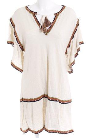 Zara Knit Tunikakleid mehrfarbig Gypsy-Look