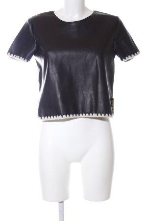 Zara Knit Boatneck Shirt black business style