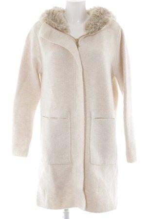 Zara Knit Overgangsjas wolwit-licht beige gestippeld pluizig