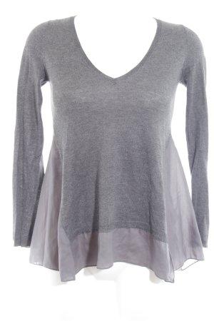 Zara Knit V-Ausschnitt-Pullover mehrfarbig schlichter Stil