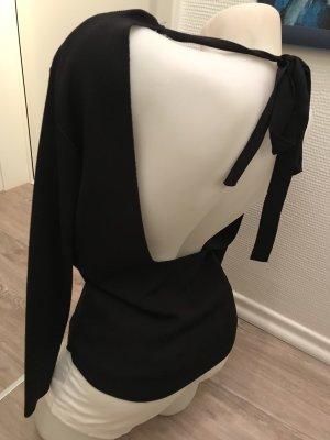 Zara Knit Wear Gr.L schwarz 38/40 rückenfrei Ausschnitt Pullover Oberteil top