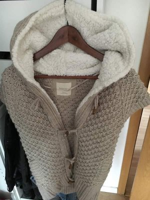 ZARA Knit Weste in beige
