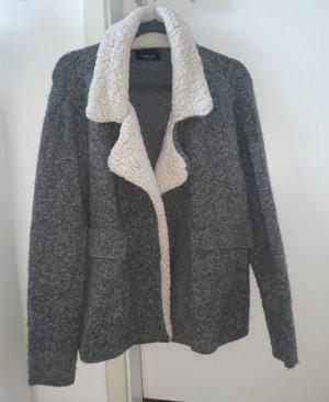Zara Knit Chaqueta de lana gris
