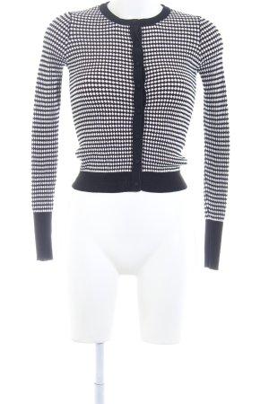 Zara Knit Wolljacke Hahnentrittmuster Casual-Look