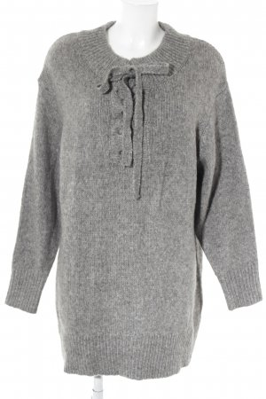 Zara Knit Vestito di lana grigio stile casual